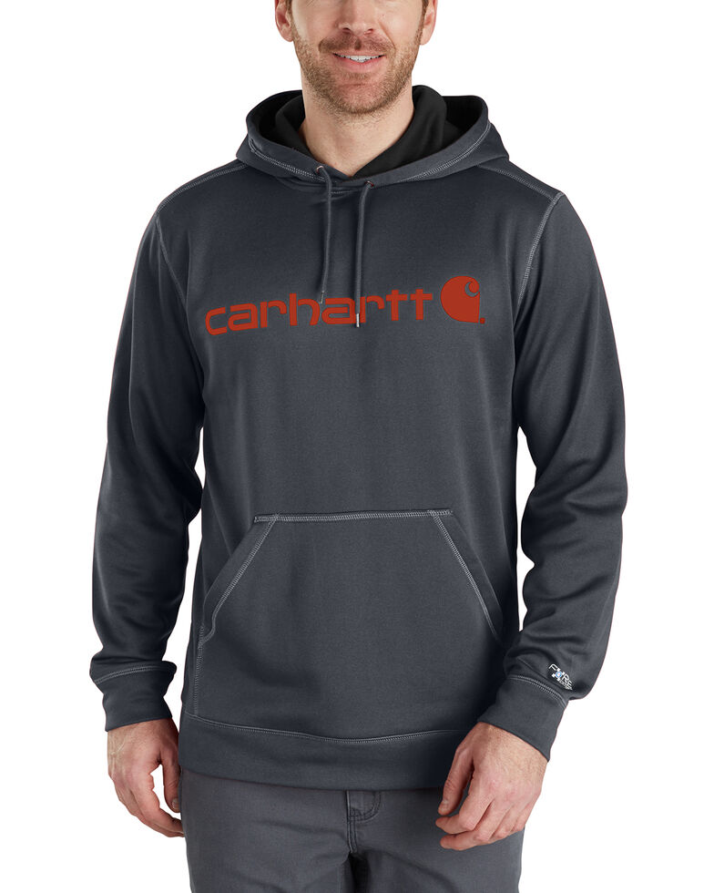 Carhartt Extremes® Force Signature Graphic Hooded Sweatshirt, Grey, hi-res