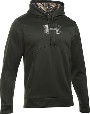 Under Armour Men's Franchise Caliber Hoodie, Green, hi-res