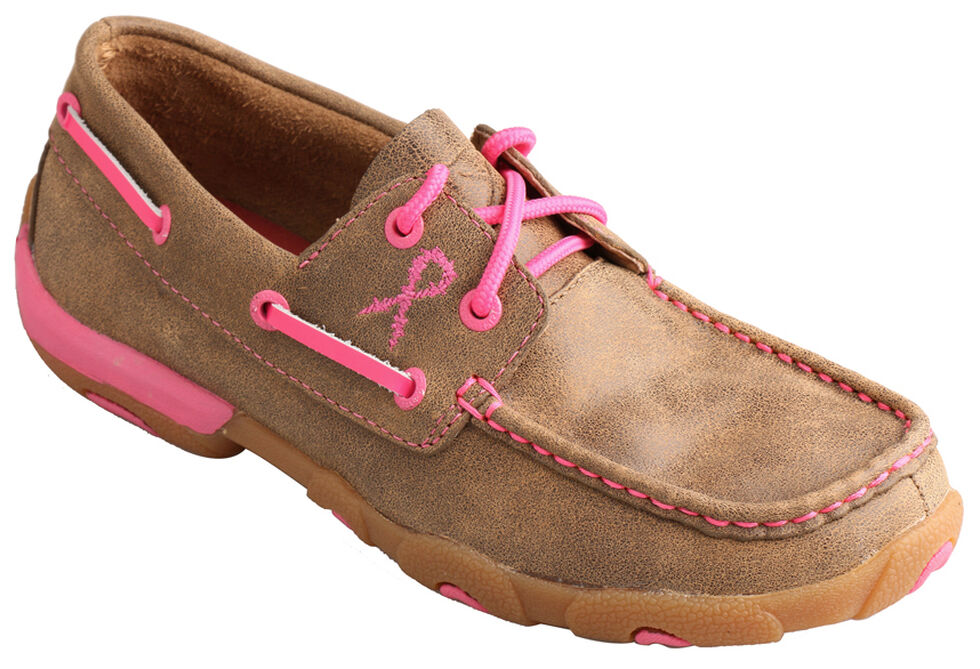 c1de5af6bcc2 Zoomed Image Twisted X Women's Tough Enough to Wear Pink Lace-Up Driving  Mocs, Tan,