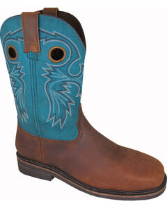 Smoky Mountain Men's Grizzly Western Work Boots - Steel Toe, Brown, hi-res