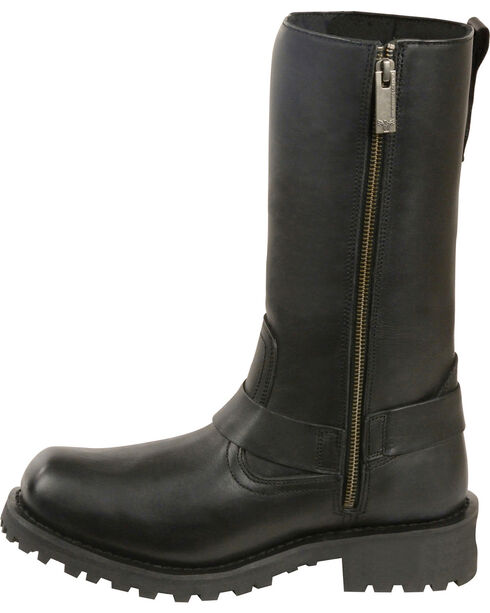 """Milwaukee Leather Men's 11"""" Classic Harness Boots - Square Toe, Black, hi-res"""