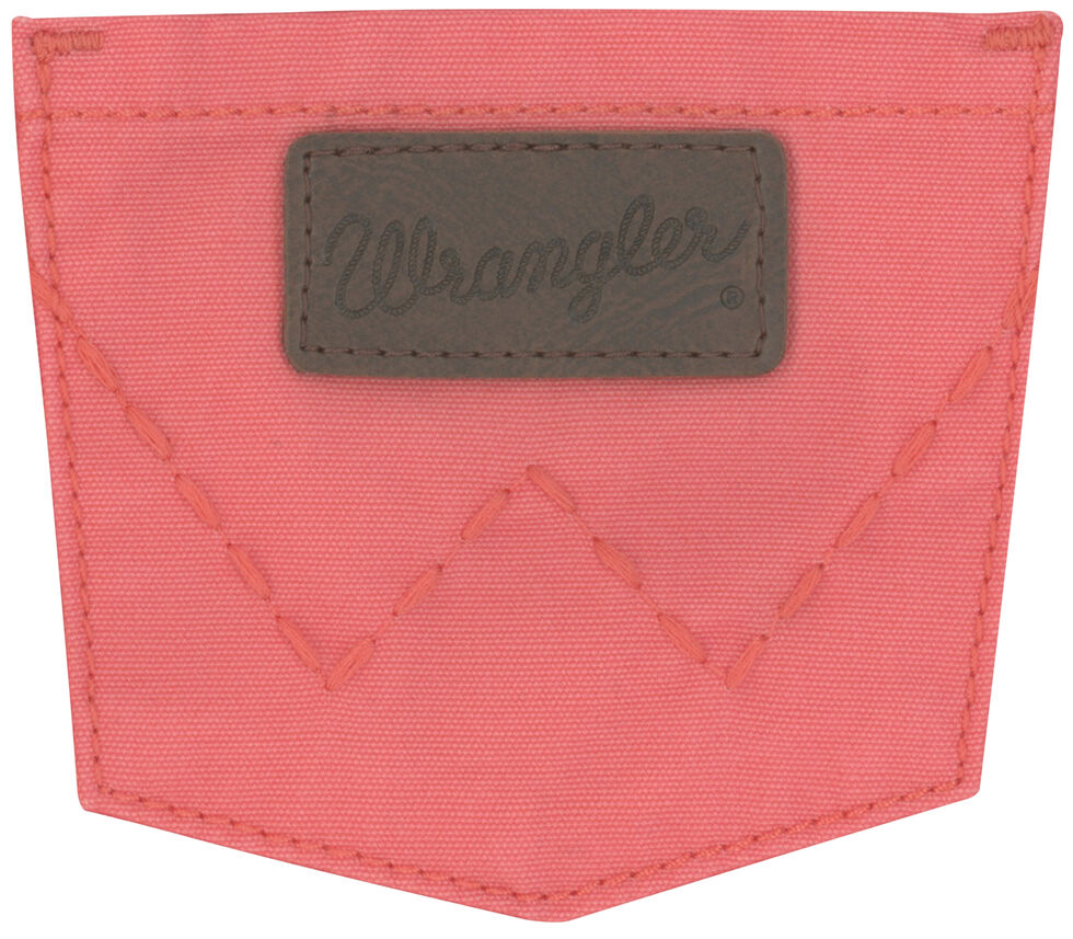 Wrangler Girls' Coral Canvas Skirt, Coral, hi-res