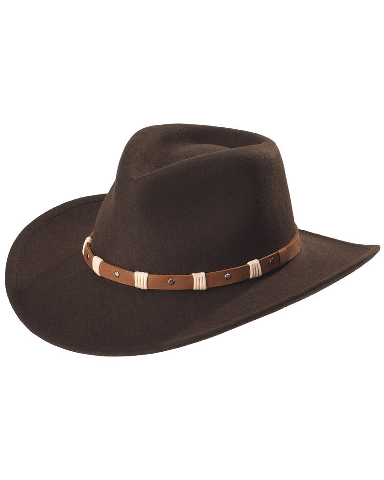Black Creek Cordova Crushable Wool Felt Hat, Cordovan, hi-res