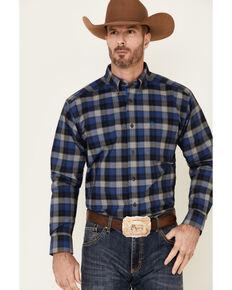 Ariat Men's Kyler Stretch Plaid Long Sleeve Button-Down Western Shirt , Black, hi-res