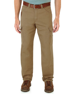 Wrangler Men's Cool Vantage Ripstop Cargo Pants, Brown, hi-res