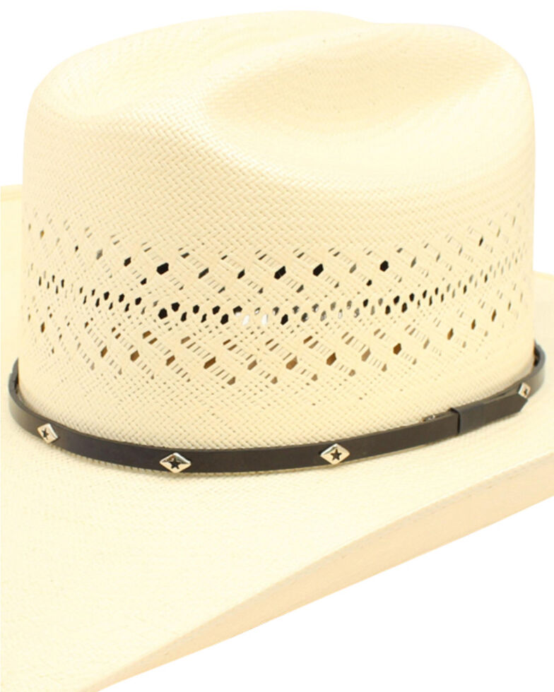 Ariat 20X Cattleman Crease Double S Straw Cowboy Hat, Natural, hi-res