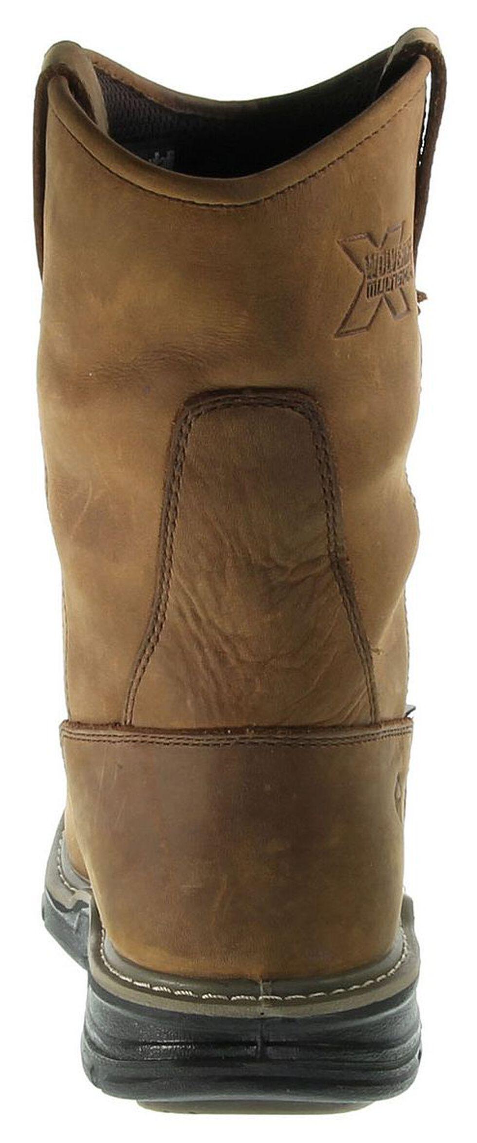 Wolverine Marauder Waterproof & Insulated Pull-On Work Boots - Steel Toe, Brown, hi-res