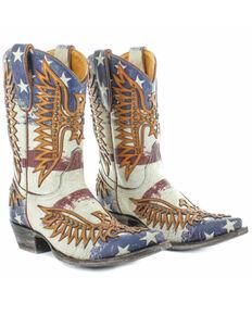 Old Gringo Women's Fairview Western Boots - Snip Toe, Brown/blue, hi-res