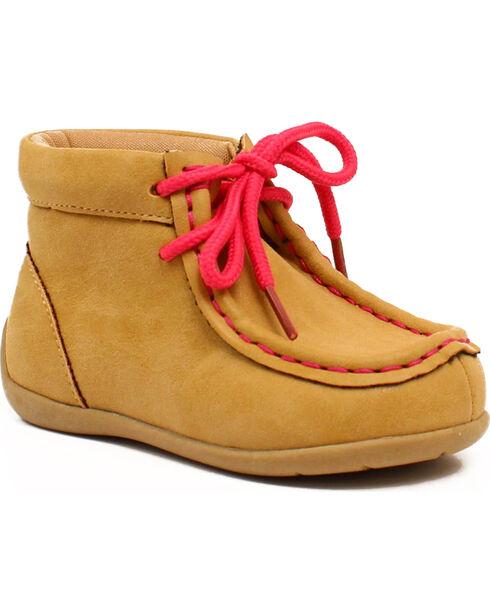 Blazin Roxx Girls' Reagan Pink Casual Shoes - Moc Toe, Tan, hi-res