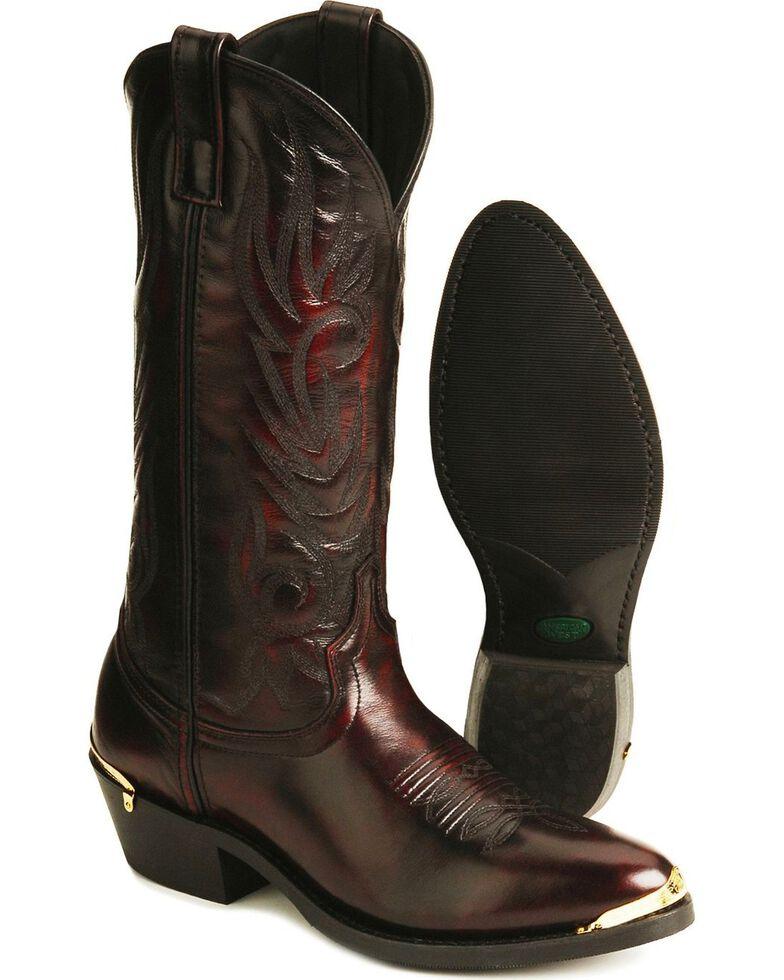 Laredo Trucker Cowboy Work Boots - Medium Toe, Burnt Apple, hi-res