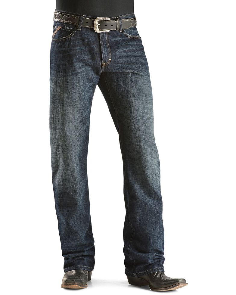 Ariat Men's M4 Roadhouse Low Rise Relaxed Fit Jeans , Dark Stone, hi-res