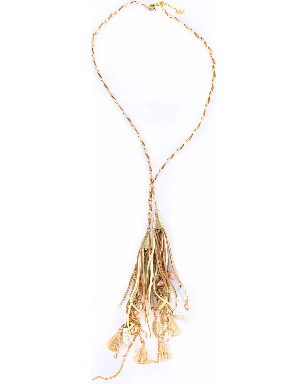 Sincerely Mary Women's Rhae Braided Tassel Necklace, No Color, hi-res