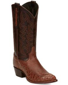 Tony Lama Men's Eduardo Western Boots - Pointed Toe, Cognac, hi-res