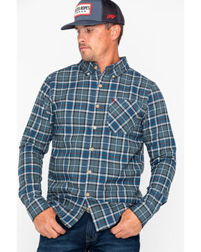 Browning Men's Crawford Plaid Flannel Long Sleeve Shirt  , Blue, hi-res