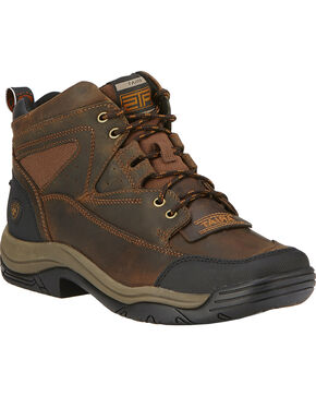 Ariat Terrain Lace-Up Work Boots - Wide Square Toe, Brown, hi-res