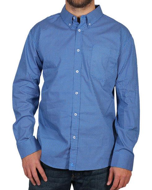 Cody James Men's Sunburst Long Sleeve Shirt, Blue, hi-res