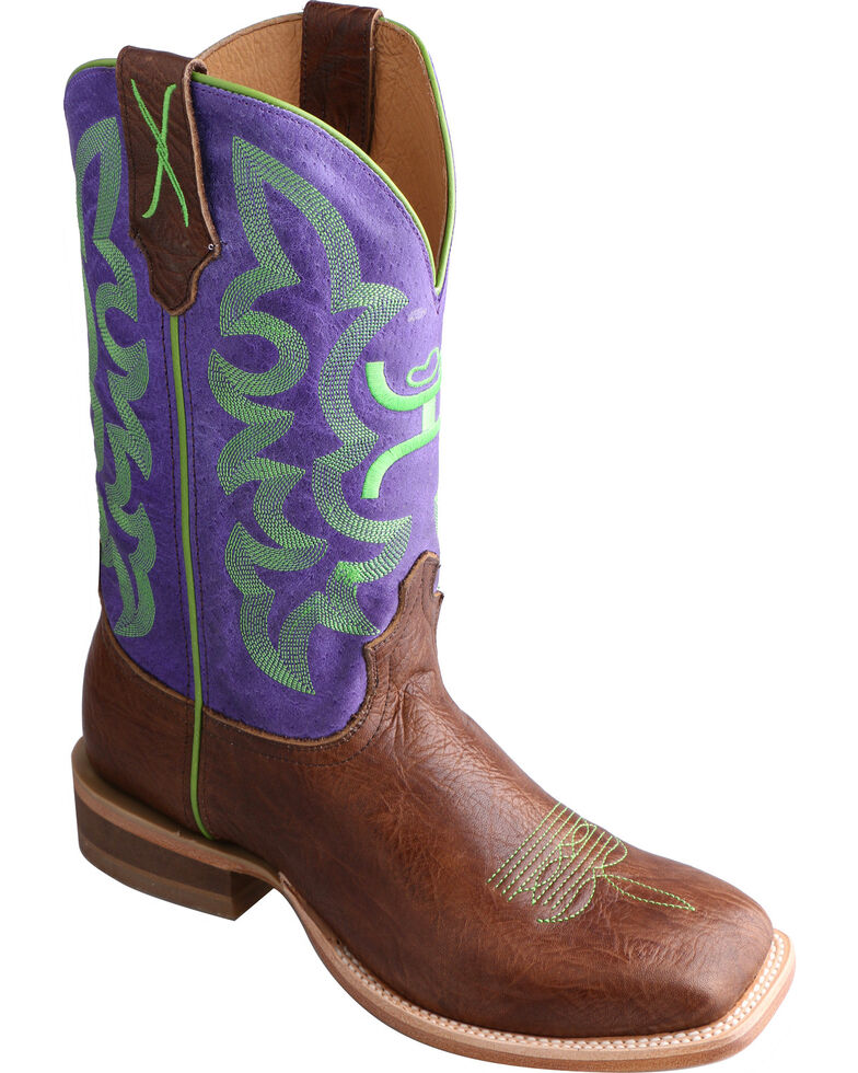 Twisted X HOOey Purple Cowgirl Boots - Square Toe, , hi-res