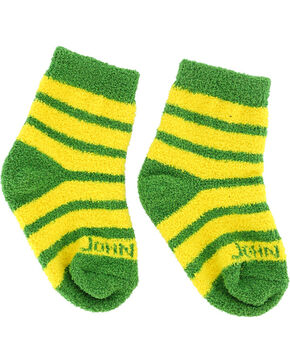 John Deere Infant Boys' Striped Socks, Yellow, hi-res