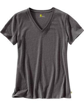 Carhartt Women's Grey Lockhart V-Neck Tee, Grey, hi-res