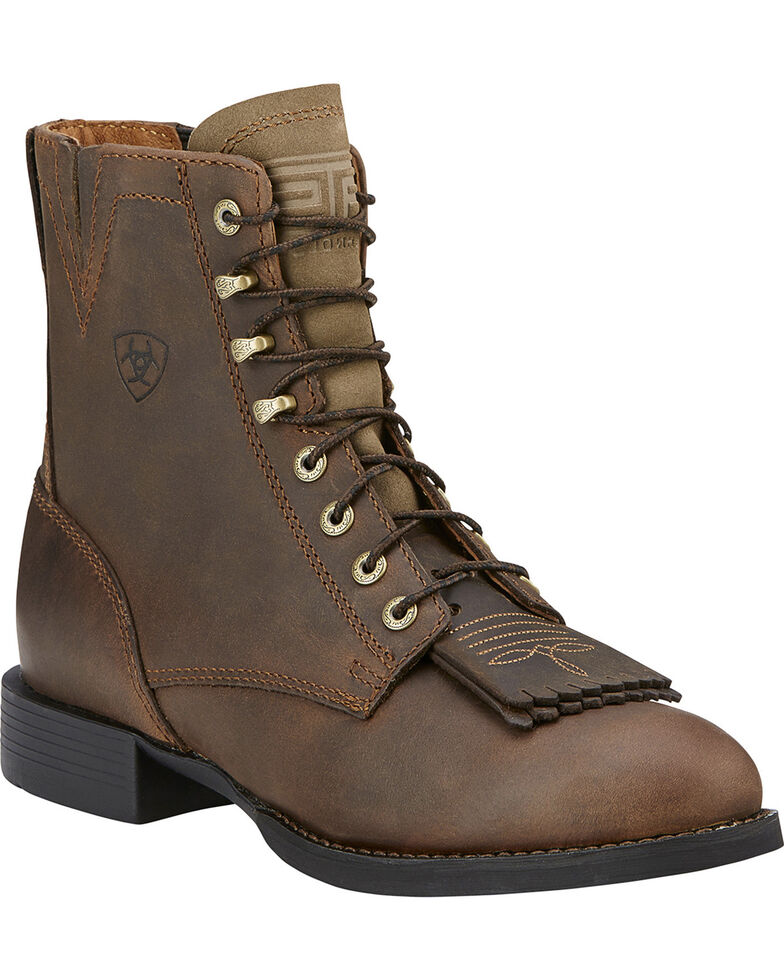 Ariat Women's Heritage Lacer Boots - Round Toe, Brown, hi-res