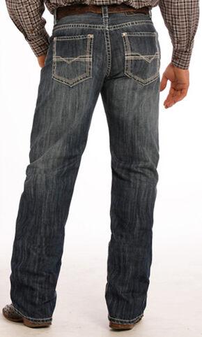 Rock & Roll Cowboy Men's Tuf Cooper Performance Dark Vintage Competition Fit Jeans - Straight Leg , Indigo, hi-res