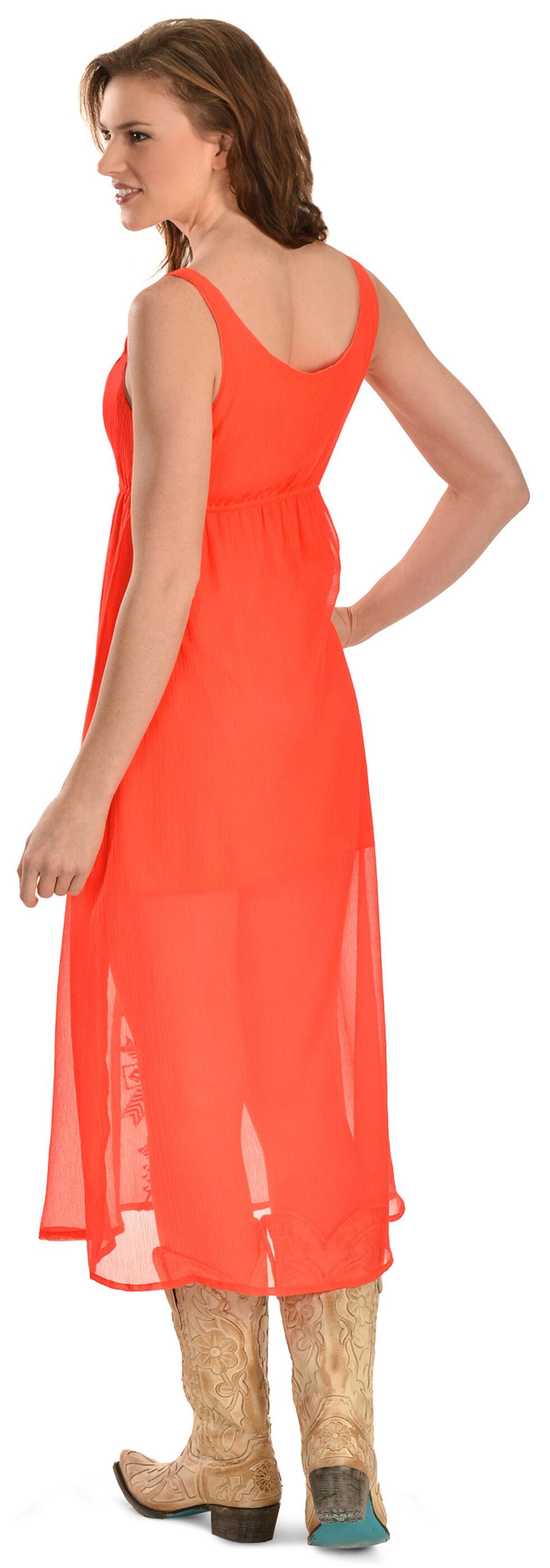 R Cinco Ranch My Way Orange Maxi Dress, Red, hi-res