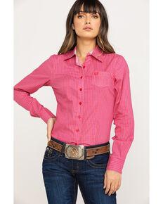 cb571099 Cinch Womens Pink Diamond Geo Long Sleeve Western Core Shirt, Pink, hi-res