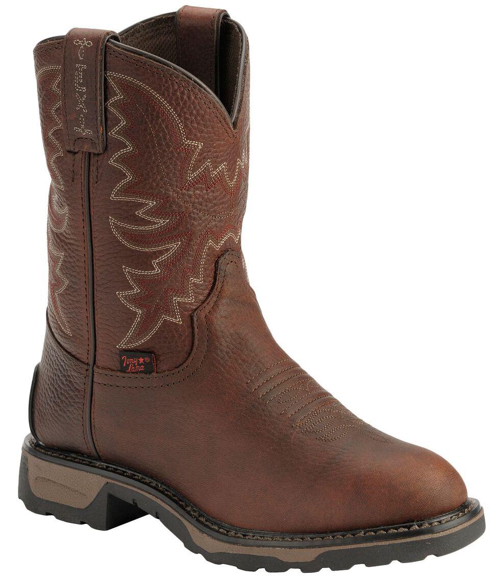 Tony Lama Boys' Briar Pitstop Western Work Cowboy Boots - Round Toe, Briar, hi-res