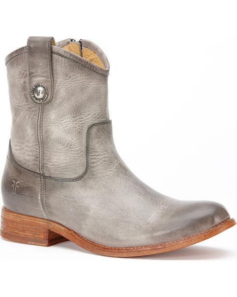 Frye Women's Ice Melissa Button Short Boots - Round Toe , Light Grey, hi-res