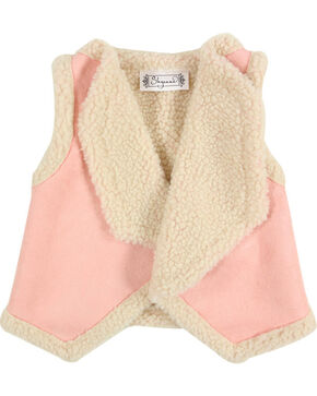 Shyanne Toddler Girls' Pink Lapel Sherpa Vest , Pink, hi-res