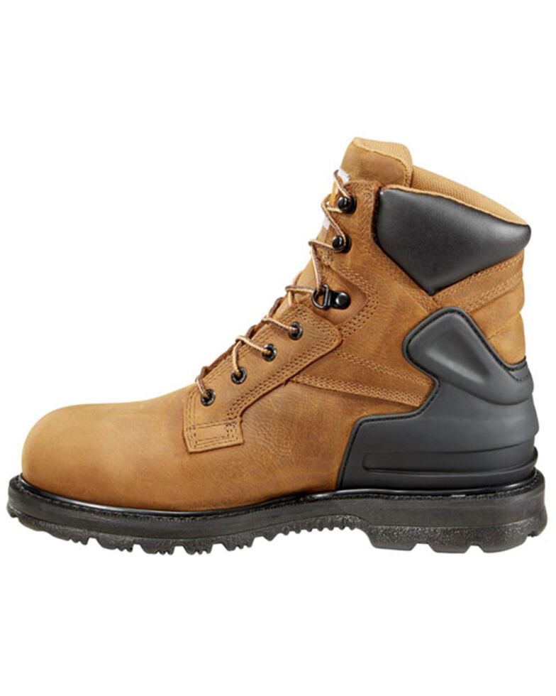 """Carhartt 6"""" Waterproof Lace-Up Work Boots - Round Toe, Bison, hi-res"""