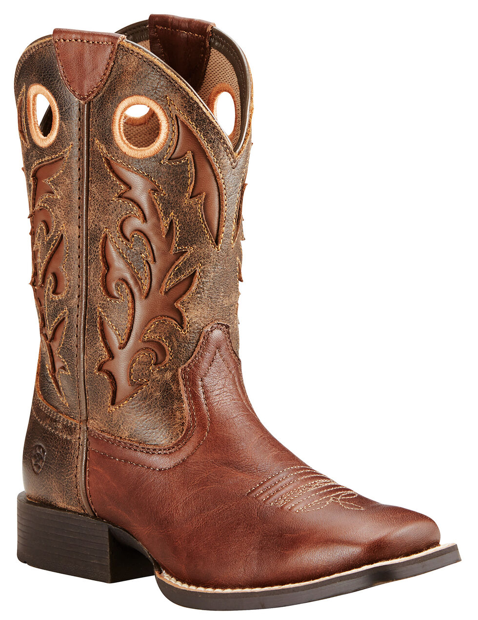 Ariat Boys' Brown Barstow Boots - Wide Square Toe, , hi-res