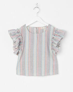 Miss Me Girls' Stripes Again Top , Multi, hi-res