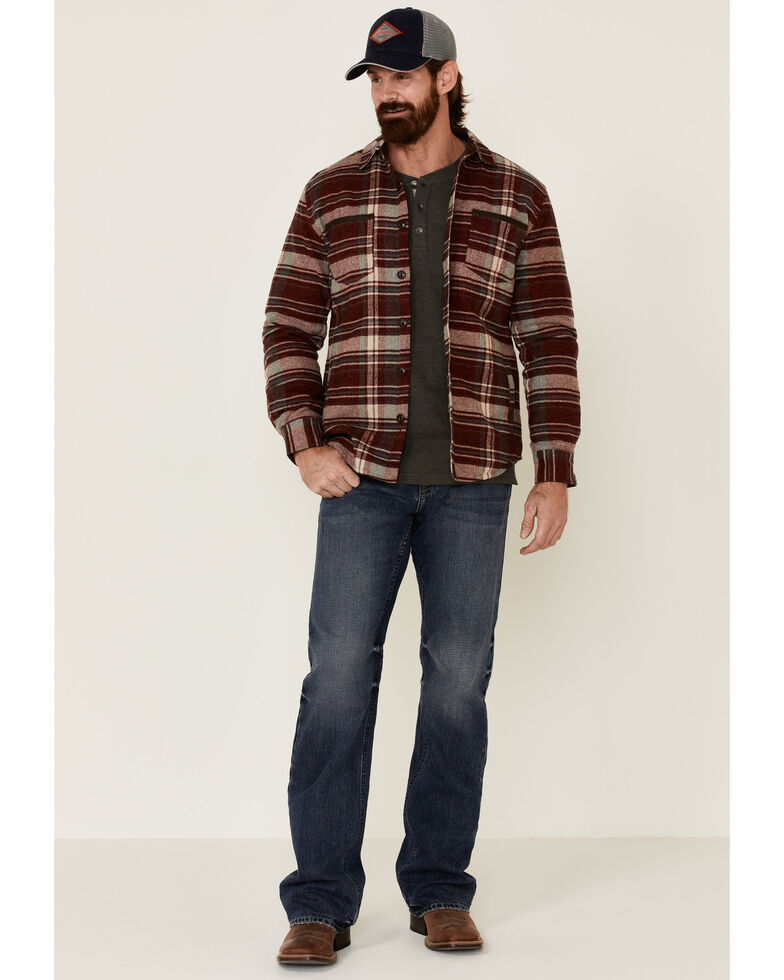 Dakota Grizzly Men's Ink Hogan Plaid Long Sleeve Western Flannel Shirt , Red, hi-res