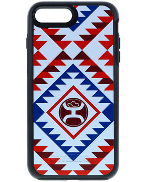 HOOey Aztec iPhone X Case, Red/white/blue, hi-res