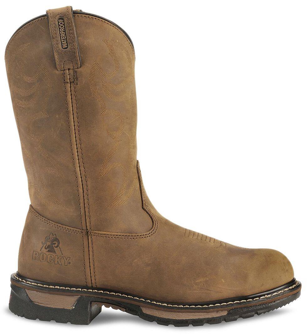Rocky Branson Waterproof Work Boots - Steel Toe, Crazyhorse, hi-res