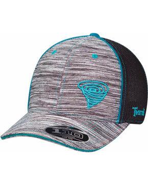 Twister Men's Grey Striped Pattern Baseball Cap , Grey, hi-res