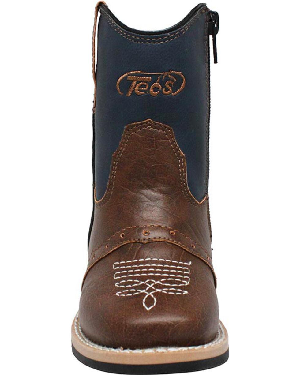 "Ad Tec Toddler Boys' 6"" Side Zip Western Boots , Navy, hi-res"
