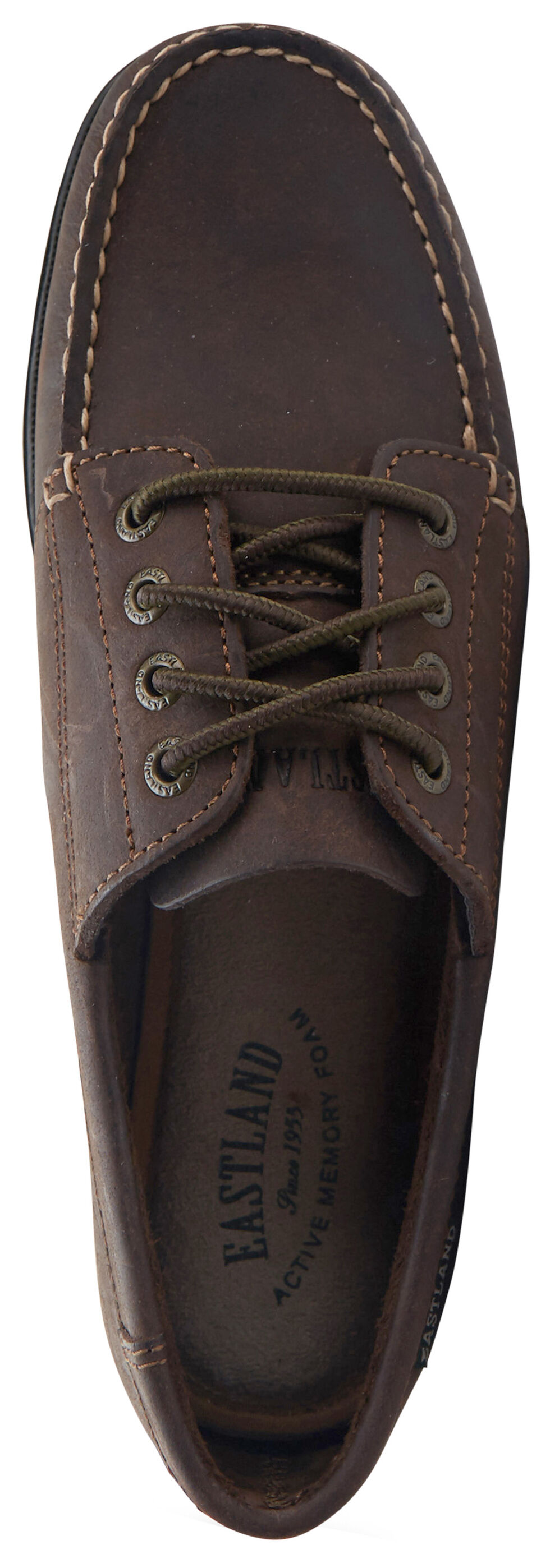 Eastland Women's Bomber Brown Falmouth Camp Mocs, , hi-res