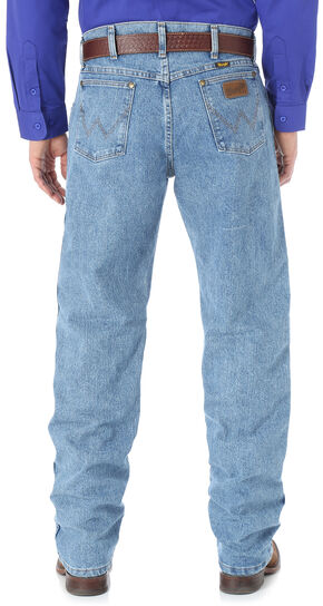 Wrangler Men's Premium Performance Cool Vantage Cowboy Cut Regular Fit Jeans, Light Stone, hi-res