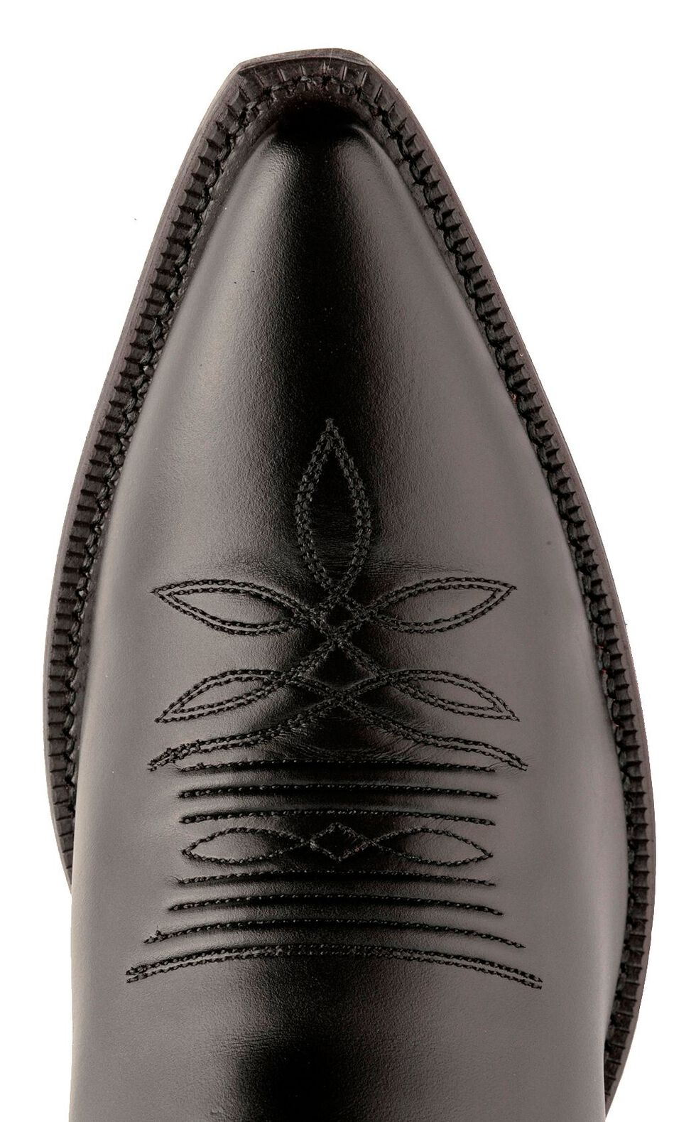 Tony Lama Signature Series Brushed Goat Cowboy Boots - Medium Toe, Black, hi-res