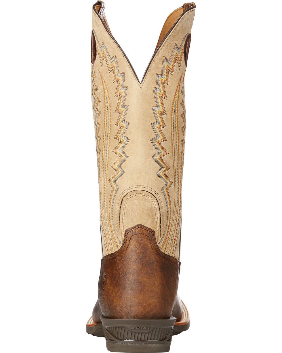 Ariat Men's Catalyst Plus Bar Top Cowboy Boots - Square Toe, Brown, hi-res