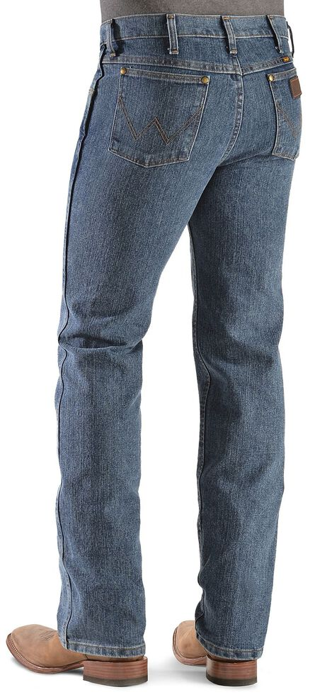 19fddb43 Zoomed Image Wrangler Advanced Comfort Slim Fit Jeans - Reg, Med Stone,  hi-res