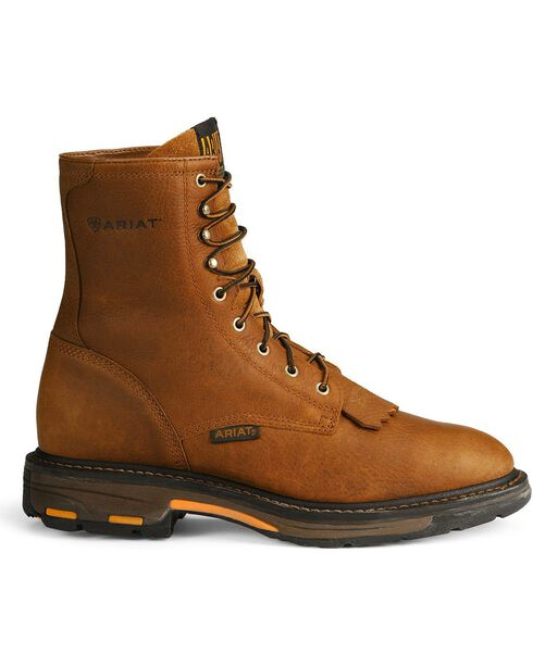 "Ariat Workhog 8"" Lace-Up Work Boots, Golden, hi-res"