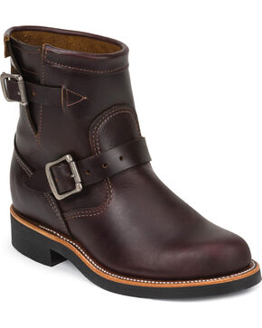"Chippewa Women's Cognac 7"" Engineer Boots - Round Toe, Cognac, hi-res"