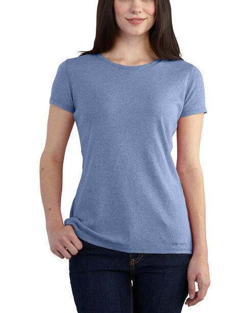 Carhartt Women's Calumet Light Blue Crewneck Tee, Light Blue, hi-res