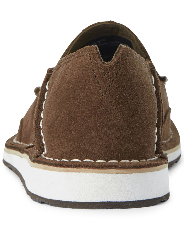 Ariat Women's Floral Embossed Cruiser Shoes - Moc Toe, Brown, hi-res