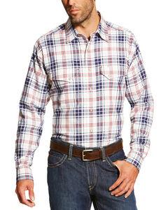 Ariat Men's White FR Duke Work Shirt - Big and Tall, White, hi-res