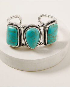 Idyllwind Women's The Perfect Trio Turquoise Cuff Bracelet, Silver, hi-res