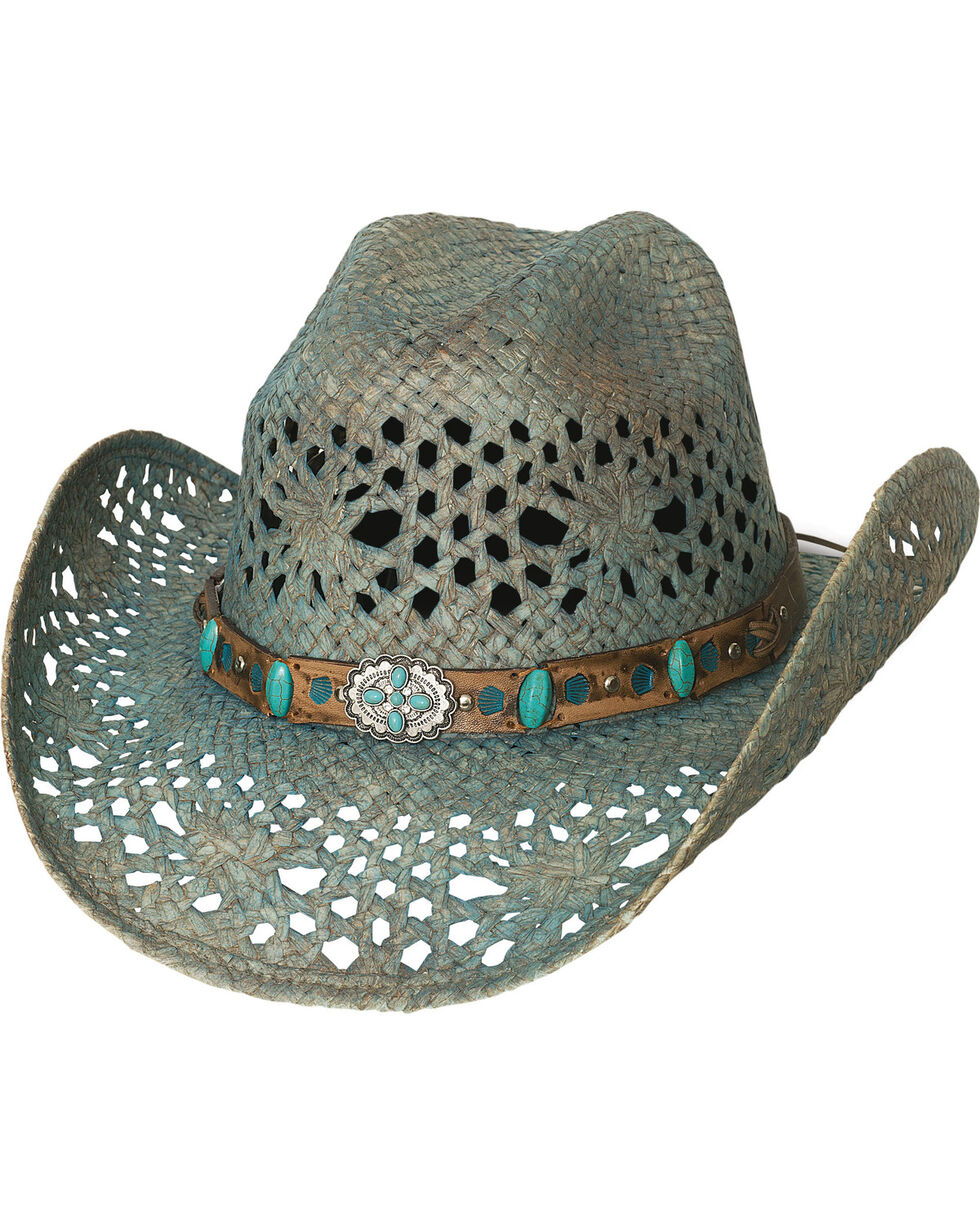 Bullhide Women's Turquoise Temptations Cowgirl Hat , Turquoise, hi-res
